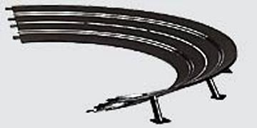 Carrera High banked curve 2/30? for 4 lanes (6 Pieces)