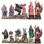 Fantasy Good vs. Evil Chess Pieces 2116j