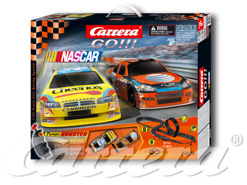 Carrera Go!!! NASCAR Slot Car Set  62076