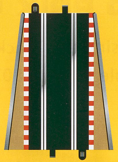 Scalextric Lead in/out Tan Borders & Barriers <br>( 2 pieces )