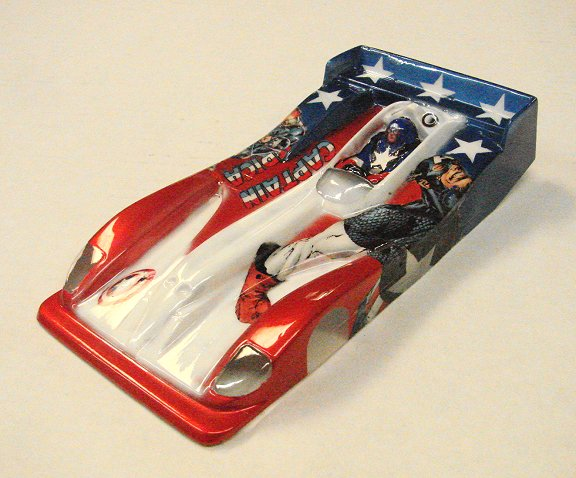 <b>New!</b> Slot Car City Ultra Custom &quot;Captin America&quot; LMP Body