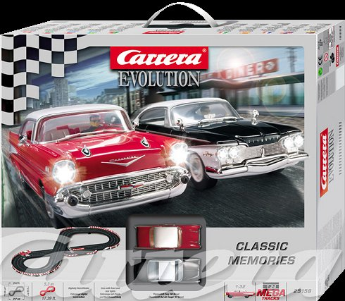 Carrera Classic Memories 1/32 Slot Car Race Set