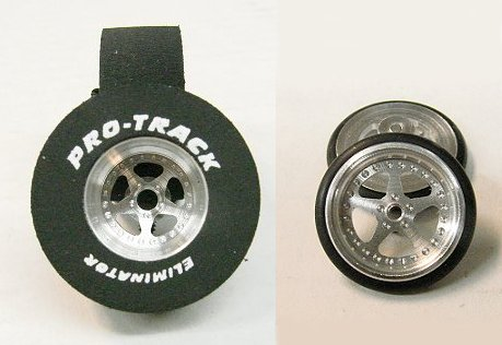 "Pro Track ""Star"" 1/8"" x 1 3/16"" x .500 Rear & Front Drag Tires"