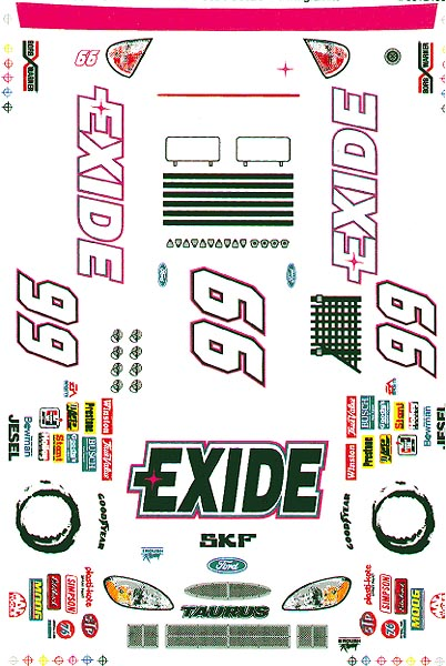 Grafix 99 Exide Y2K Decal