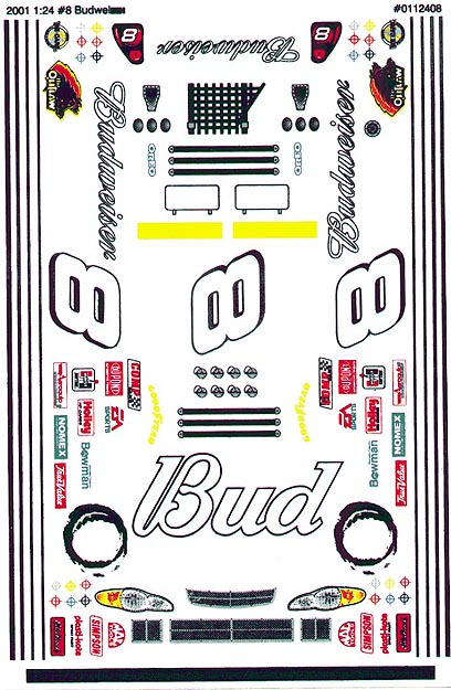 Grafix 8 Bud Decal