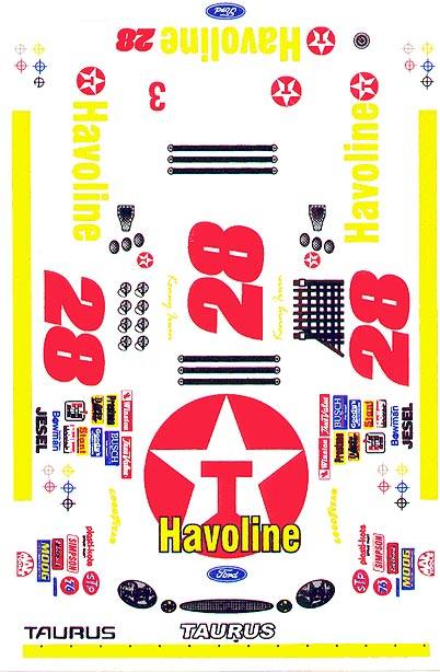 Grafix 28 Havoline Decal