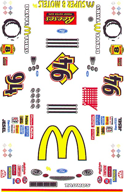 Grafix 94 McDonalds Decal