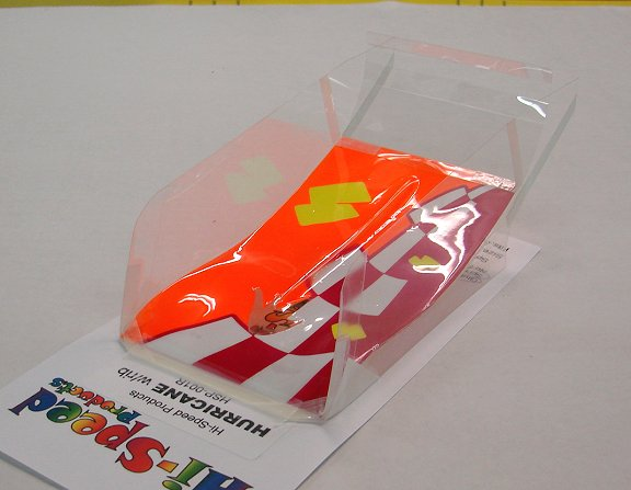 Hi-Speed Products Pro Mounted &quot;Hurricane&quot; -<i>Neon Blocks</i> Winged Slot Car Body