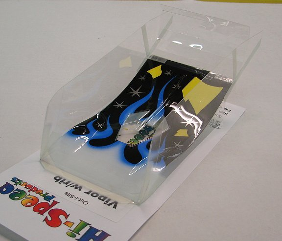 Hi-Speed Products Pro Mounted &quot;O/S Viper&quot; -<i>Blue Flame</i> Winged Slot Car Body