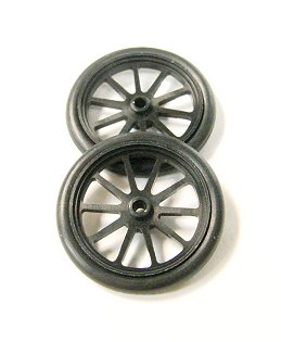 "JDS 17"" 10 Spoke Drag Fronts ""Black"""