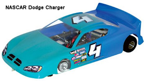 <b>New!</b> Parma &quot;Flexi-5 RTR&quot; w/ NASCAR Charger