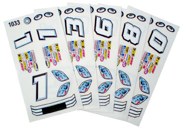 Parma Stock Car Slot Car Decals - Type F - 6 Sheets