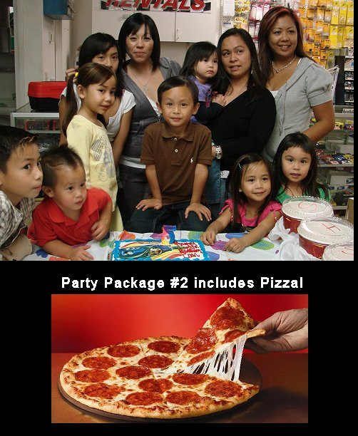 Reserve your Birthday Party! Party Package 2
