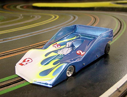 JK Cheetah-7 with Blue Printed Kelly Balanced 16D Slot Car w/ GTP Body