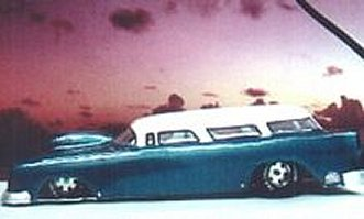 """Toytech """"55 Chevy Nomad S/Gas Clear Drag Body"""