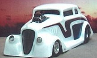 "Toytech ""33 Willys Coupe Clear Drag Body"
