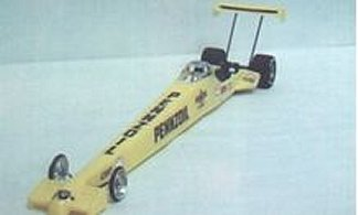 "Toytech ""99 Top Fuel Dragster Clear Drag Body"