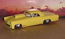 "Toytech ""56 T-Bird S/Gas Clear Drag Body"