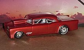 """Toytech """"55 2 Dr. Chevy S/Gas Clear Drag Body"""